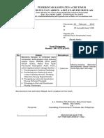 Surat Pengantar Berkas Otsus 2018