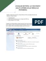 Langkah Langkah Setting Acces Point Dengan Litebeam m5 Sebagai Penerima Sinyal