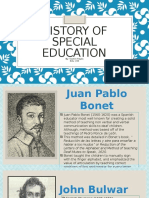 history of special education pp