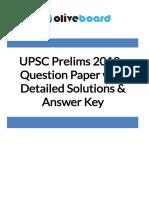 UPSC GS Paper I 2018 Solved Paper