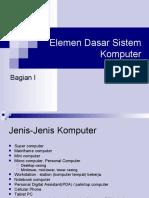 Elemen Dasar Sistem Komputer