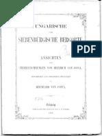 Ungarische Und Sibenbürgische Bergorte 1862