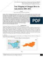 Flood Hazard Zone Mapping of Ghaggar River in Ambala district 2001-2011