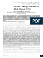 Mutual Authentication Technique for Isolation of Sinkhole Attack in WSN's