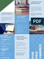 Blue Globe Vector College Trifold Brochure