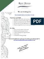 Job Advertisement WS Instructor