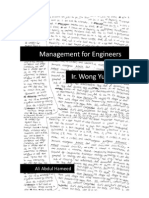 Management for Engineers(Class Notes)