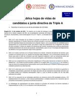 SAE publica hojas de vidas de candidatos a Junta Directiva de Triple A