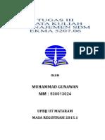 Tugas 3 Manajemen Sdm (Muhammad Gunawan) (530013024)