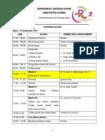 Susunan Acara 14 Oktober New