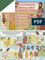 HOJITA EVANGELIO NIÑOS DOMINGO XXVIII TO B 18 SERIE
