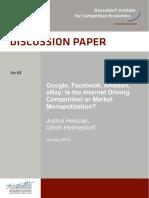 __Artigo - Haucap_Heimeshoff - 'Google, Amazon, Ebay - Monopolization' (2013).pdf