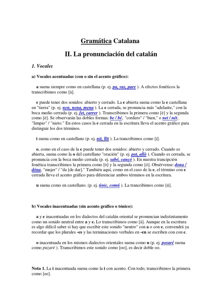 gram tica catalana rh es scribd com Dios De Los Suenos Suena Suena Conmigo