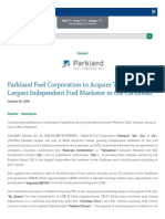Www Parkland CA en Investors News Article News Id 2018-10-10 Parkland Fuel Corporation to Acquire 75 of SOL the Largest Independent Fuel Marketer in the Caribbean