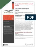 Folleto Discourse and Mental Health