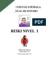 Manual Reiki I-master Julieta de Garcia - 2018