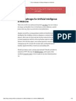 Three Challenges for Artificial Intelligence in Medicine