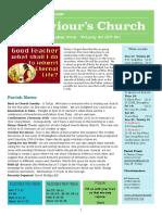 st saviours newsletter - 14 october 2018