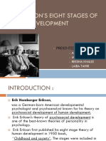 Erik Eriksons Eight Stages of Human Development