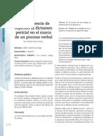 Improcedencia de objeción al dictamen pericial en el marco de un proceso verbal.pdf