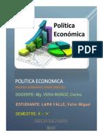 Politca Economica Como Proceso