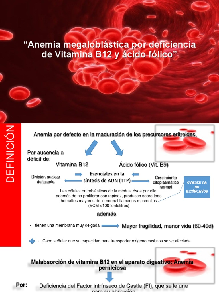Vitamina B12 sau anemie cu deficit de folati
