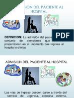 Admision de Paciente
