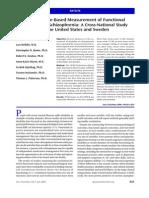 medición discapacidad funcional en esquizofrenia