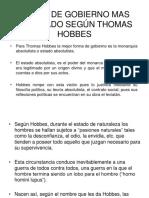 Forma de Gobierno Según Thomas Hobbes (2)