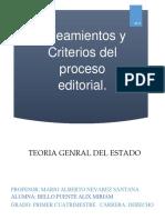 Resumen Sobre El Libro de Lineamientos y Criterios Del Proceso Editorial