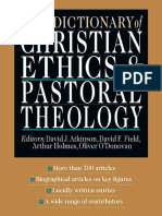 ATKINSON David J and FIELD David F Eds 1995 New Dictionary of Christian Ethics and Pastoral Theology Leicester UK
