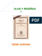 R. Guénon - Recopilación - Artículos y Reseñas #1 (1)