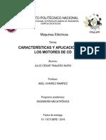 Caracteristicas y Aplicaciones de Los Motores de CD