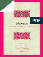 GELARDINI Gabriella 2005 Hebrews Contemporary Methods New Insights Biblical Interpretation Series 75 Leiden and Bosto