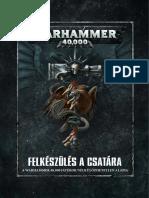 Warhammer 40k - Rulebook 8th - Felkeszules a Csatara