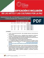 Dgc Mppe Cronograma de Actividades Culturales 2018-2019