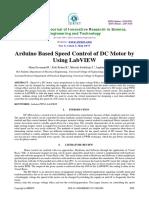 Arduino Speed Control DC Motor LabVIEW