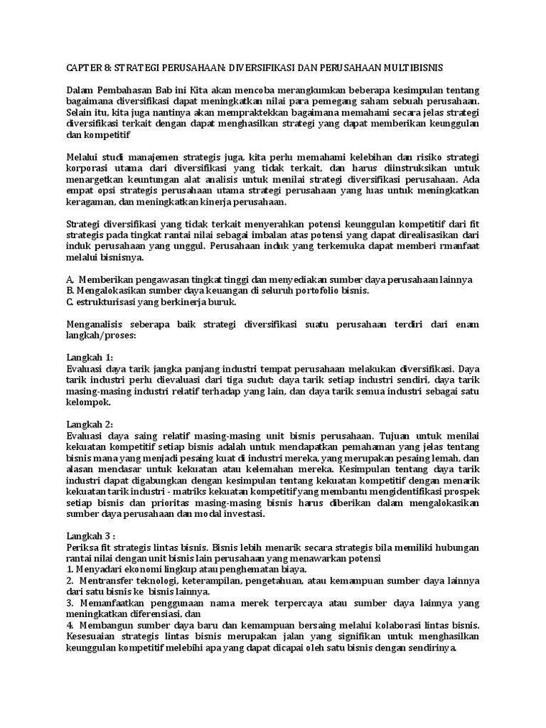 Pengertian Strategi Diversifikasi Konsentris (Diversifikasi Terkait)