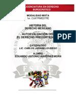 Historia Del Derecho Mexicano - Autoevaluación i