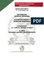 Historia Del Derecho Mexicano - Autoevaluación II
