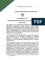 Documento No. 1. La Autoadministracion Del Tiempo. Una Competencia Vital