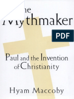 Hyam Maccoby - The Mythmaker Paul and the Invention of Christianity (1998, Barnes & Noble Books NY)