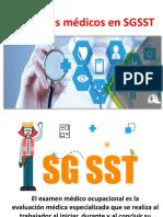 Exámenes médicos en SGSST