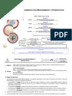 Dom-p152-Hm1 002 Procedimiento Para Mantenimiento y Conservacion