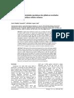 Avaliação Das Propriedxades Mecânicas Dos Plásticos Reciclados Provenientes de Resíduos Sólidos Urbanos