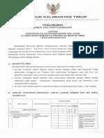 pengumuman seleksi cpns pemprov kaltim 2018.pdf
