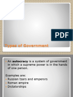 types of governmentautooligdemocratic