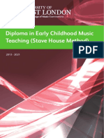 Stave House Diploma in Early Childhood Music Teaching