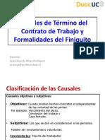 3.-Causales Término Contrato de Trabajo y Finiquito