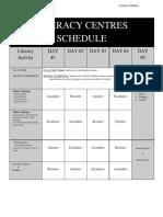 literacy centres schedule  4-day format portrait